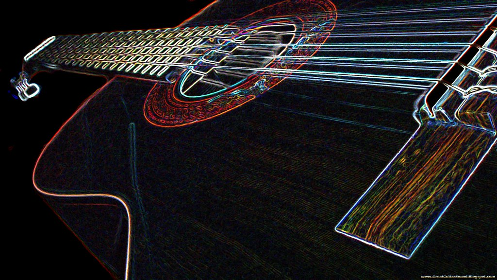 Landola C 55 Classical Guitar Glowing Background Hd Guitar