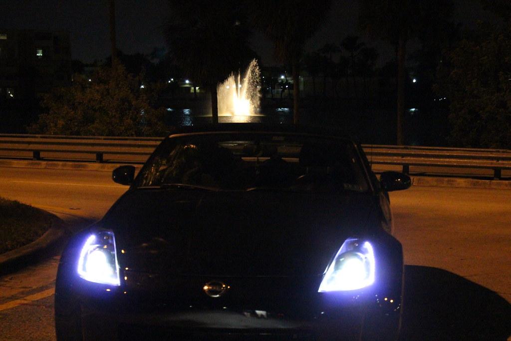 Nissan 350Z Led headlights | Custom retrofit flat black head… | Flickr