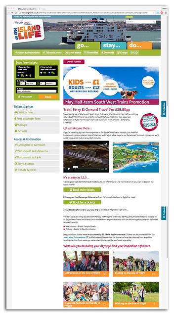 Wightlife website - half-term feature