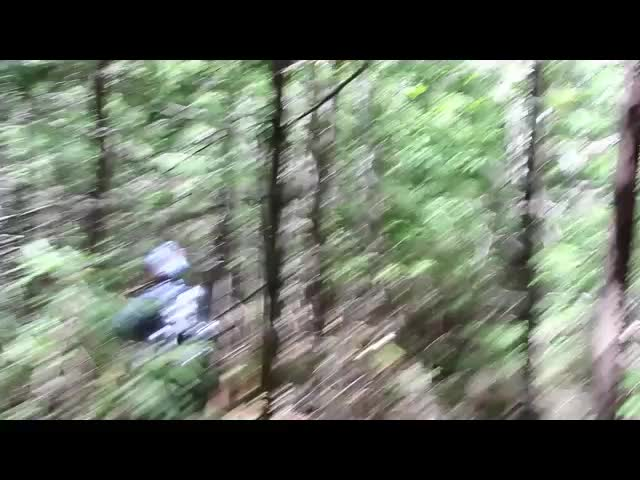 434 Video of tough Bushwhacking west from Balsam Cap to Rocky Mountain (cut)