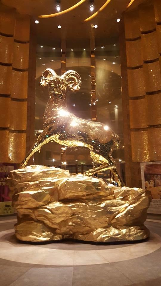 mgm casino stag statue Macau