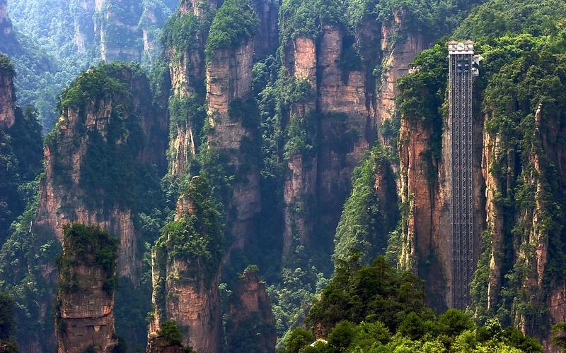 Zhangjiajie 0f Bailong Elevator
