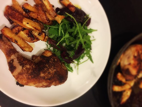 Roast Chicken with Celeriac Chips | by Jeni Pim