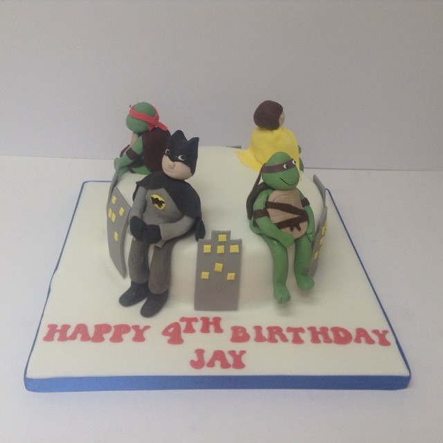 Sensational Superhero Birthday Cake Batman Robin Turtles Flickr Birthday Cards Printable Opercafe Filternl