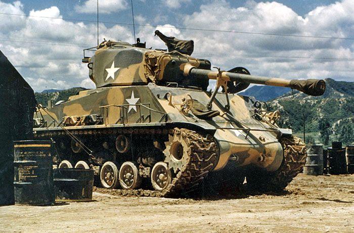 M4A3E8 Sherman   M4A3E8 Sherman in Korea   Broń Pancerna
