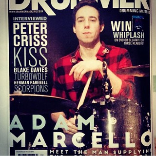 Check out @adam.marcello on the cover of Drummer Magazine this month! Make sure you get this issue!! #qdrumco #drummermagazine #itsallhisfault | by QDrumCo
