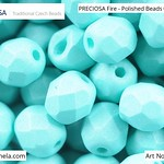 PRECIOSA Fire-Polished Beads - 151 19 001 - 02010/29569 - Sea Green