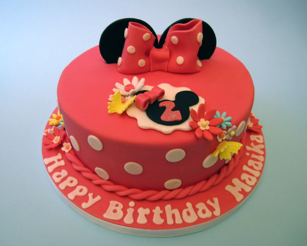 Incredible Minnie Mouse Birthday Cake I Was Asked To Make A Minnie Mo Flickr Personalised Birthday Cards Veneteletsinfo