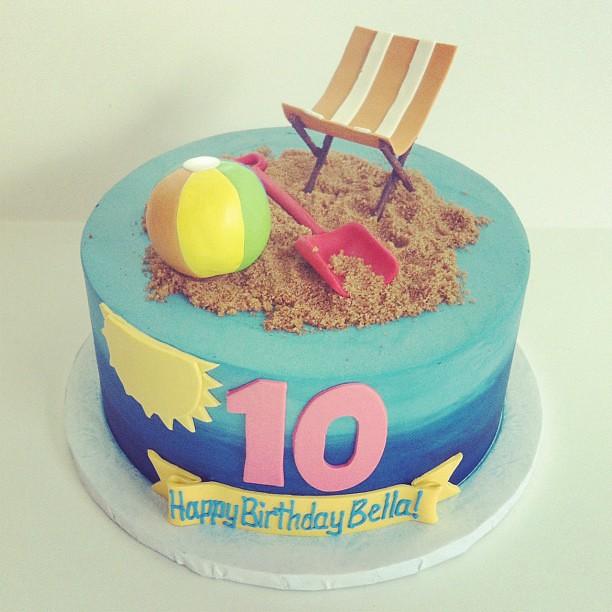Cool Beach Birthday Cake Austin Customcake Polkadots Olga Flickr Funny Birthday Cards Online Necthendildamsfinfo