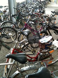 Bicicletas en la estación