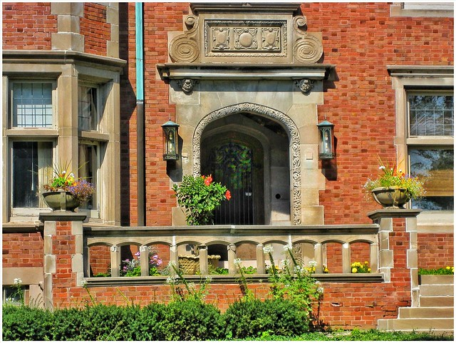 2409 N. Wahl St  ~ Milwaukee Wi ~ Entrance ~ Robert Nunnemacher Mansion ~ Historical