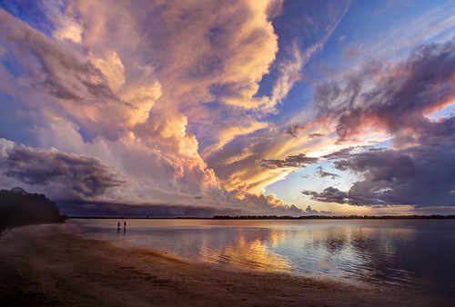 camping sunset beach night tampa florida cloudy coastal hdr fortdesoto photopainting
