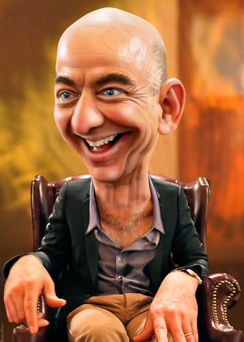 Jeff Bezos - Caricature, From CreativeCommonsPhoto