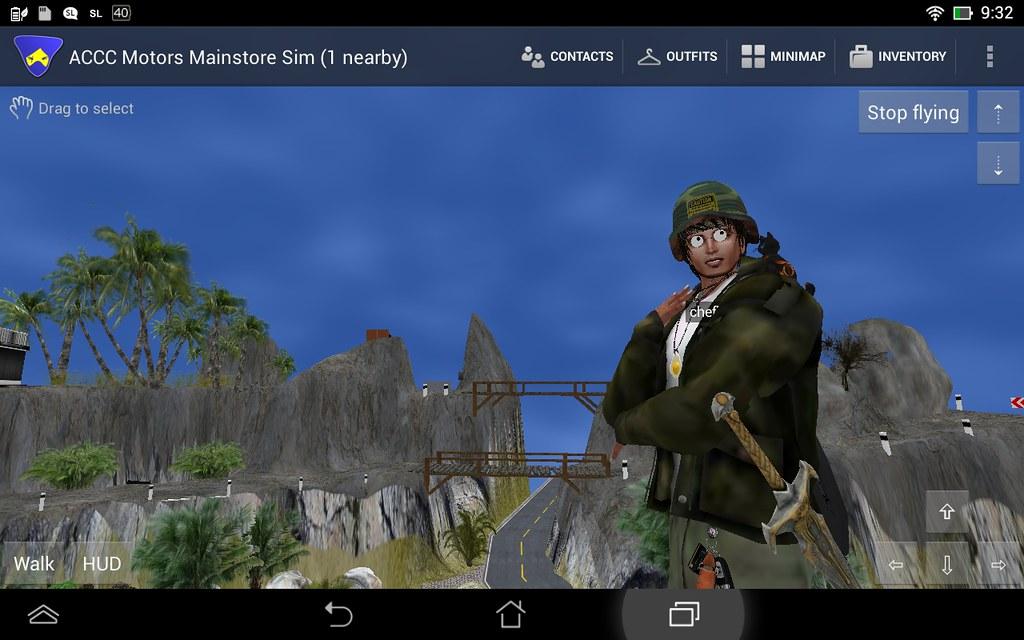 Secondlife - Lumiya Viewer Android Test - 90 meter view ra