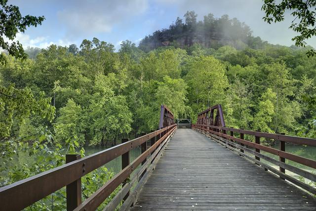 Bridge, Bee Rock Campground, Daniel Boone National Forest, Laurel County, Kentucky