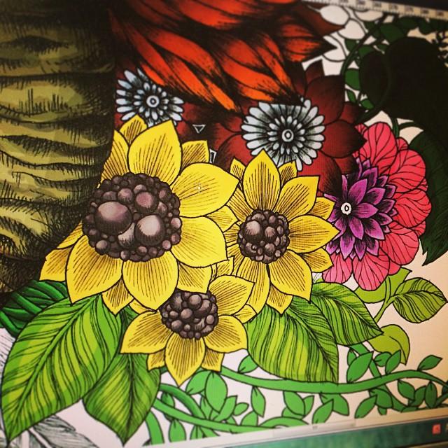 Still coloring #coloriage #color #flower #floral #beautiful #botanical #zenart #zia #Zendoodle #zentangle #instart #illust #instadraw #instagood #illustrator #illustration #artist #art #doodle #drawings