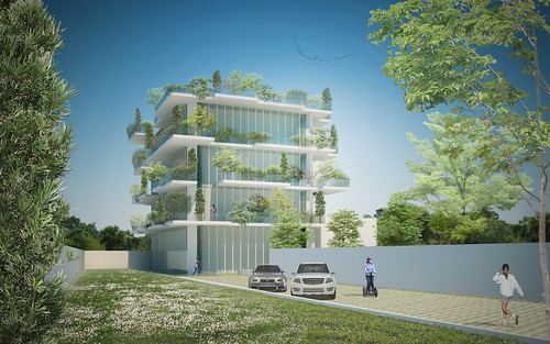 AereaConcept for vertical green houses in Palermo | by Dolmen S.r.l