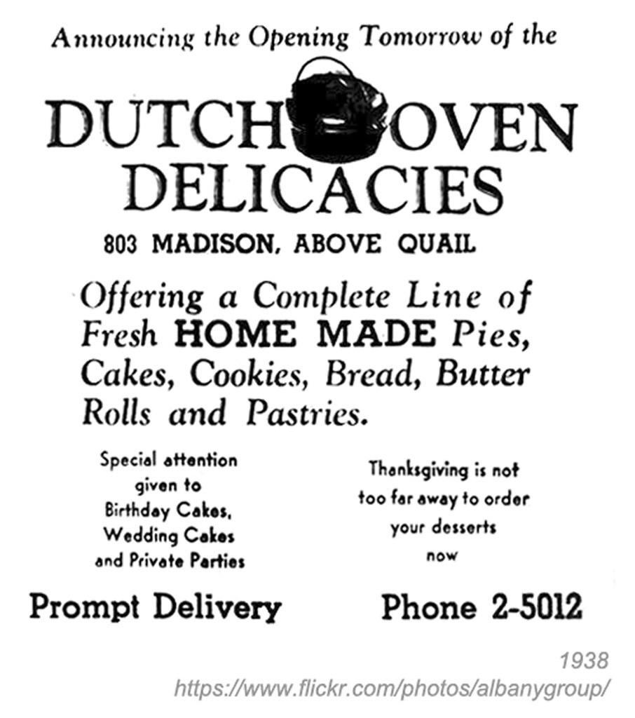 Fine Dutch Oven Bakery Ad 1938 Albany Ny Pine Hills 1930S Flickr Funny Birthday Cards Online Ioscodamsfinfo