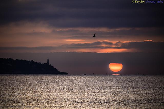 Sunrise on the Lighthouse (Cap Ferrat - Côte d'Azur)