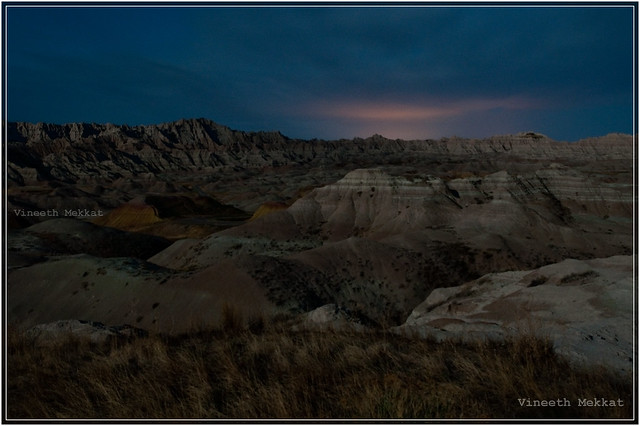 Badlands National Park - Full Moon Night