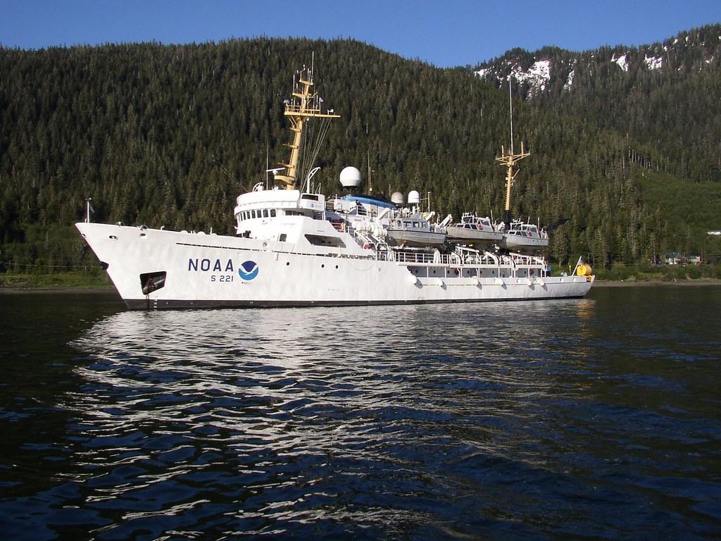 ship1199 | NOAA Ship RAINIER at anchor in Alaskan waters. Im… | Flickr