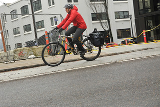 New raised bikeway on Couch Curve-5.jpg | by BikePortland.org