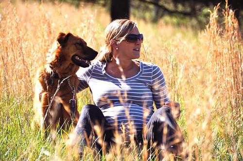 dog beautiful field river pregnant maternity wife 36weeks beautifulpregnantwife