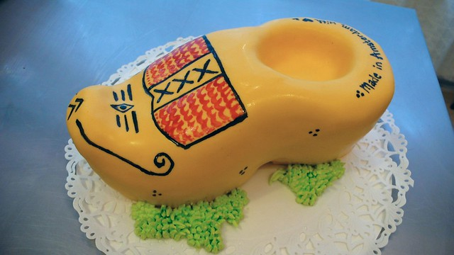 Wooden Clog Birthday Cake