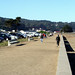 Crissy Field with view of Golden Gate Bridge