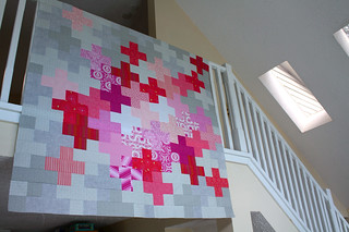 Pink Pluses Quilt Top   by Everyday Fray