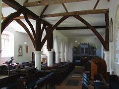 wooden truss arcade