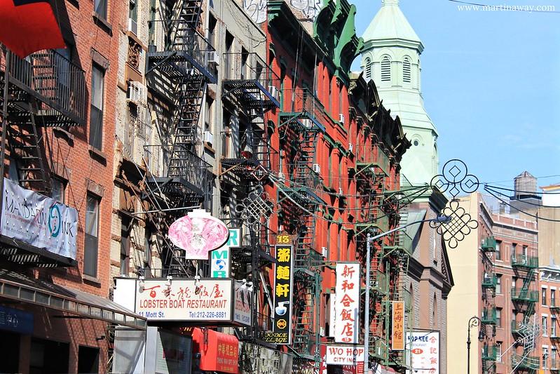 Walking in Chinatown.