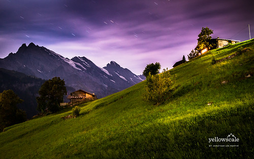 Star Trails above Gimmelwald | by nybblr