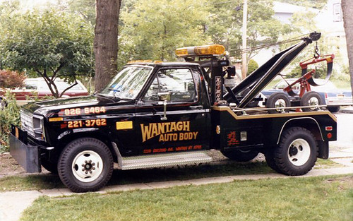 1985 Ford tow truck | by wantaghautobody