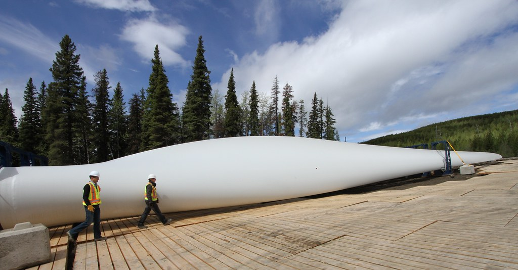 Sandy Fleming and Glen Palmer at the Quality Wind Project at Tumbler Ridge BC - Capital Power - 089