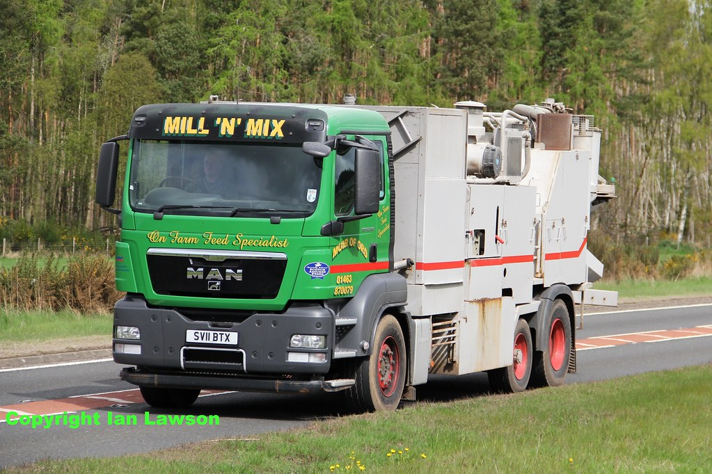 SV11 BTX Mill 'N' Mix MAN TGS 18 360 animal feed mixer   Flickr