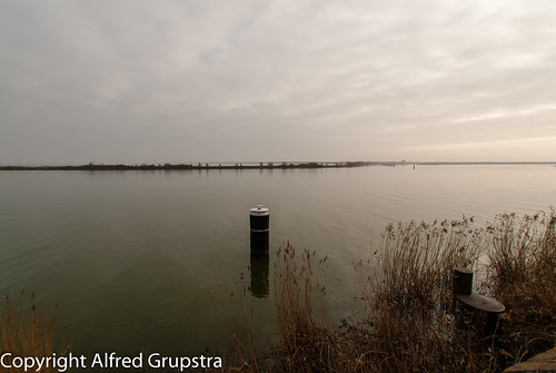 Ijselmeer on a cloudy day