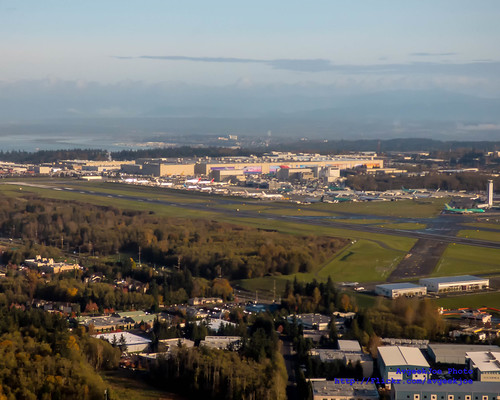 A Great Slice of Paine Field With Everett In the Distance