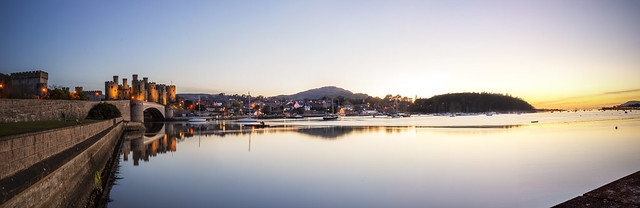 Conwy Sunset Pan HDR_1