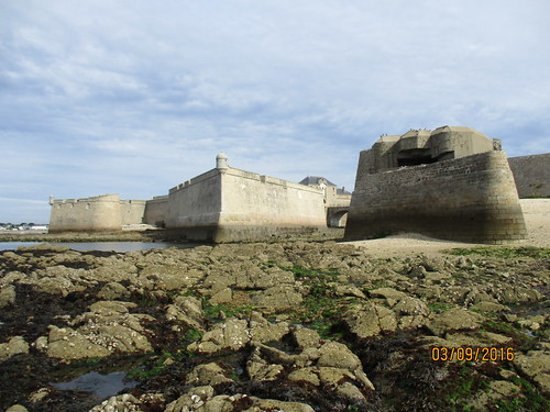 WW2 German bunker built on French fort, Port-louis