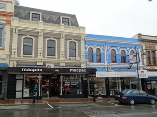Timaru. Nicely painted shops and stores from the late 19th century in the main shopping street. | by denisbin