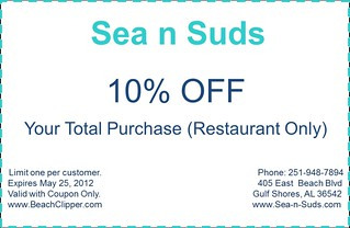 photograph regarding Gulf Shores Printable Coupons identify sea n suds printable discount coupons Sea n Suds Printable Coupon f