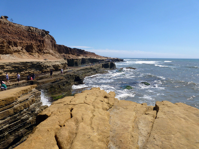 Cliffs and Pacific Ocean at Point Loma - San Diego, California