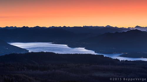 alps sunrise landscape dawn alba alpi paesaggio lagomaggiore mottarone beppeverge