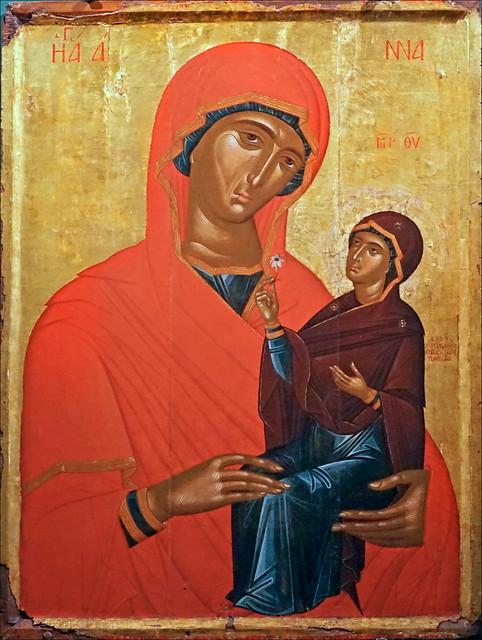 St Anne et la Vierge (musée Benaki, Athènes)