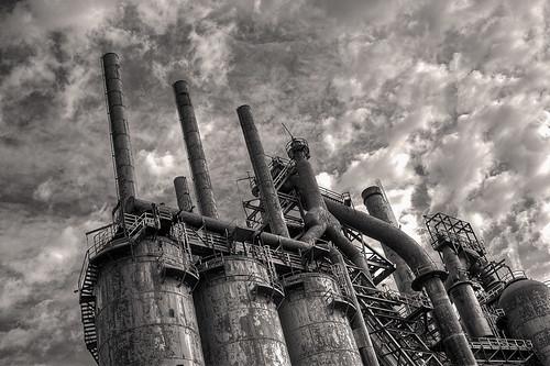 bw pennsylvania steel rusty bethlehem hdr corroded