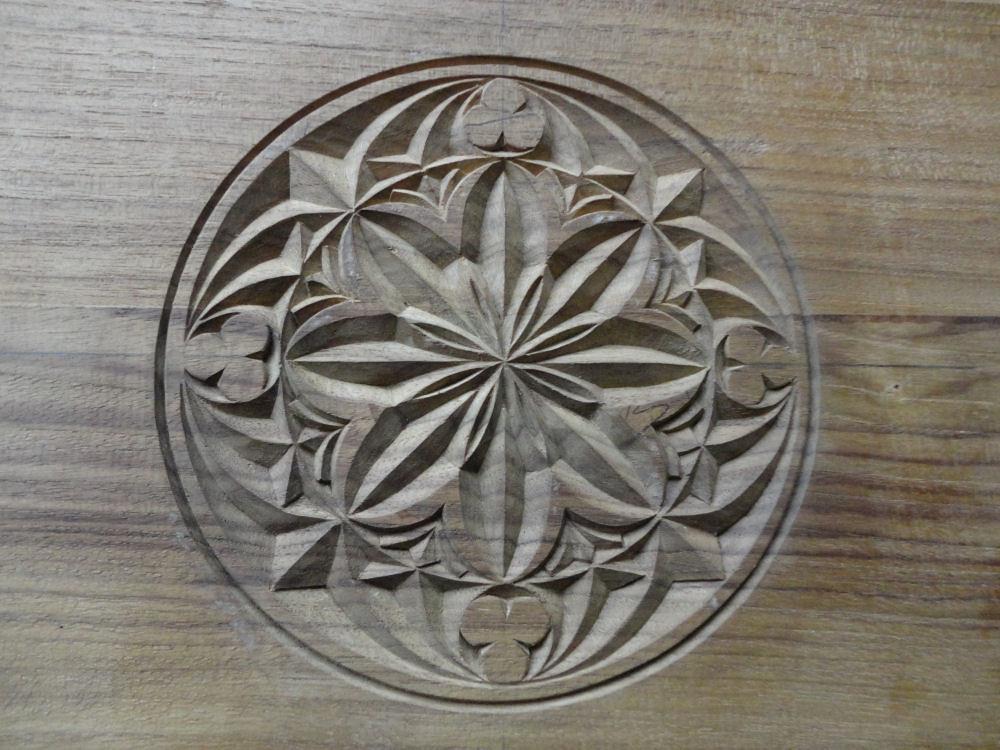 Chip carving black viking woodcraft