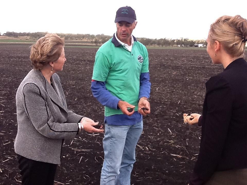 Christine and Larissa discuss soil in Felton