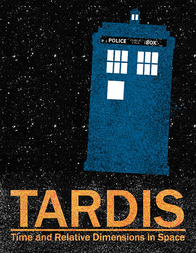 TARDIS Travel Poster | by fritzwinkle