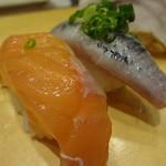 Salmon Sushi @Itamae Sushi, Ginza, Tokyo